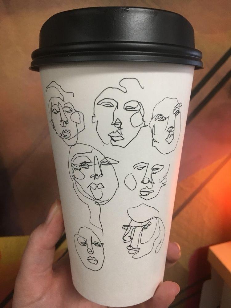 love draw coffee cups? drawing  - blflood | ello