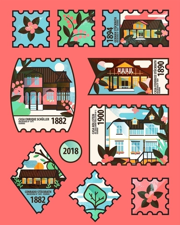 Stamps classic German houses 18 - libedlulo   ello