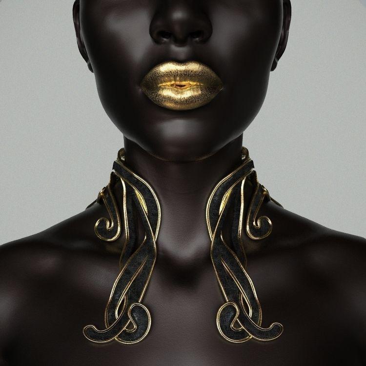 Dea Black Gold - 3D, digital, sculpture - z3rogravity | ello