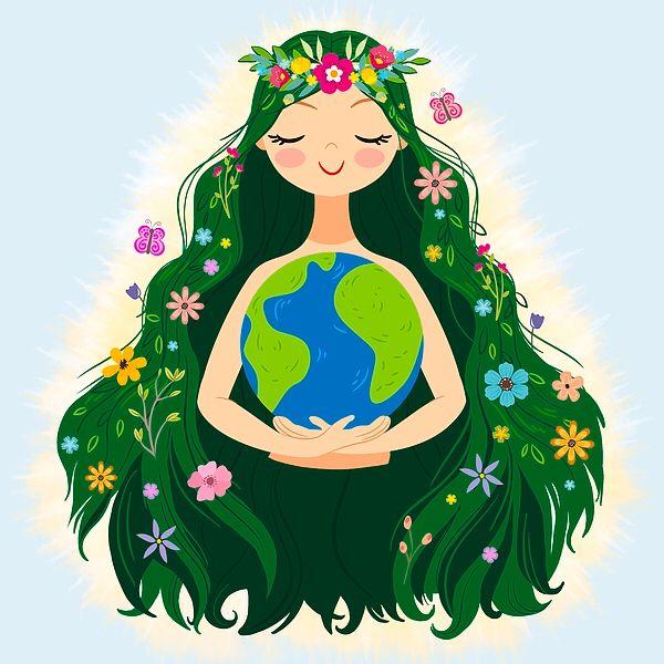 """Beautiful Flowing Flower Earth - littlebunnysunshine | ello"