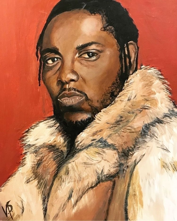 Kendrick, Lamar, portrait, acrylic - vp-art | ello