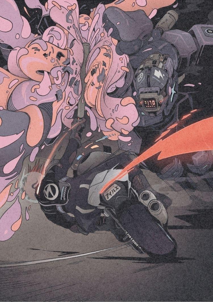 Cyber Hunter illustration 3/3 - artwork - 1sles | ello
