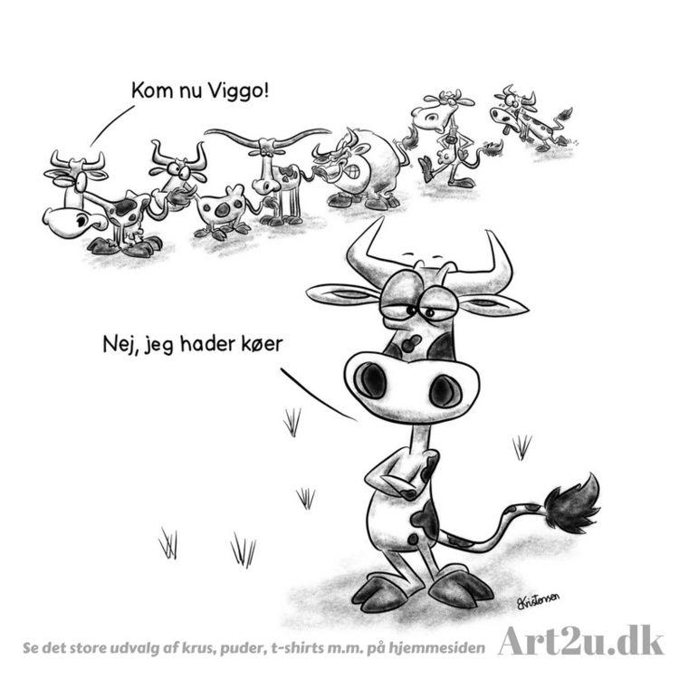 Pen Ink drawing Art2u.dk - cows - art2u | ello