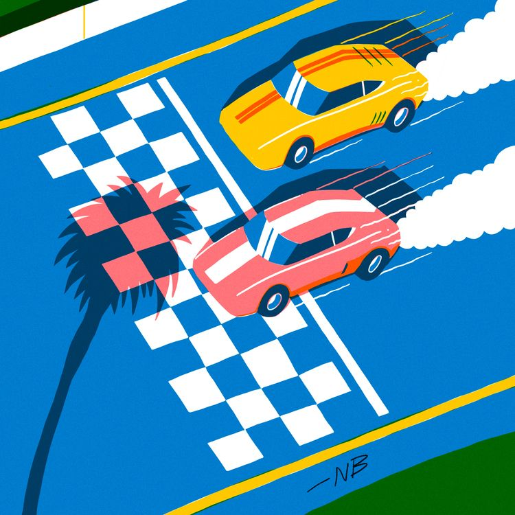 fast cars finishing - 36daysoftype - nik__brovkin | ello