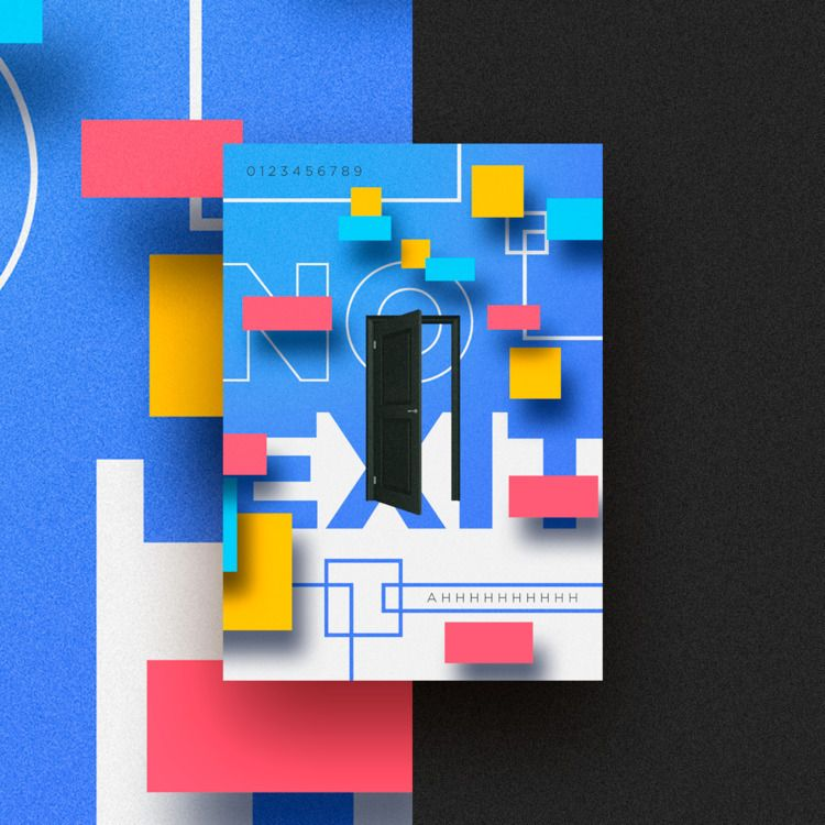 door, colors, poster, modern - vissotto   ello