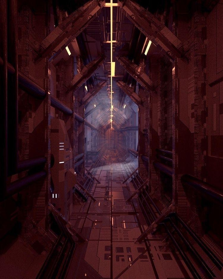 """""""Corridor - 3D, art, everyday, scifi - roggggg   ello"""