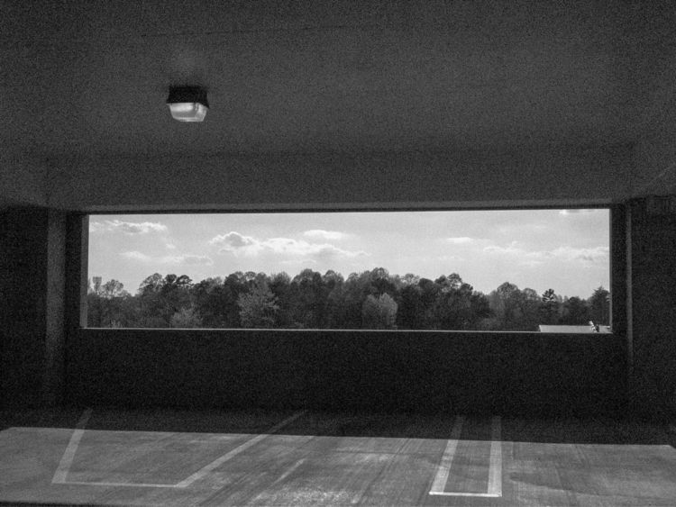 parkingdeck, summer, blackandwhite - underflow | ello