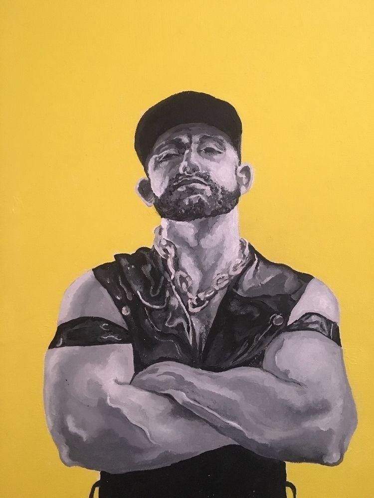 Oli yellow background (Acrylic  - x0ffender | ello
