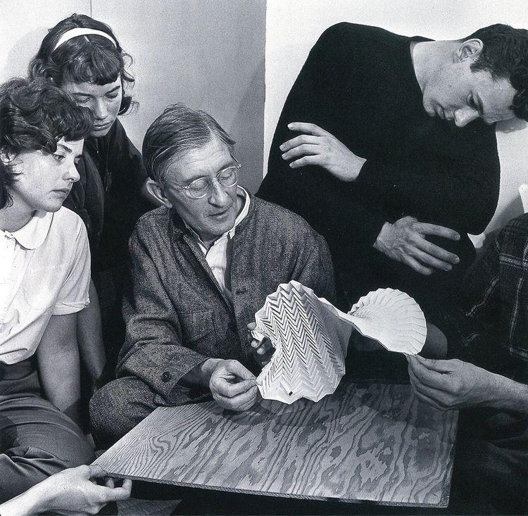 Josef examining folded paper co - bauhaus-movement | ello