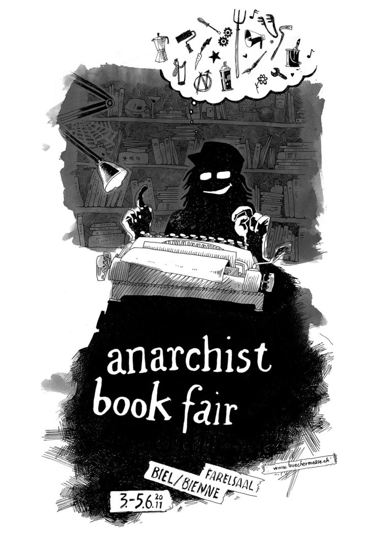 011 - plakat, anarchist, bookfair - _ttf | ello