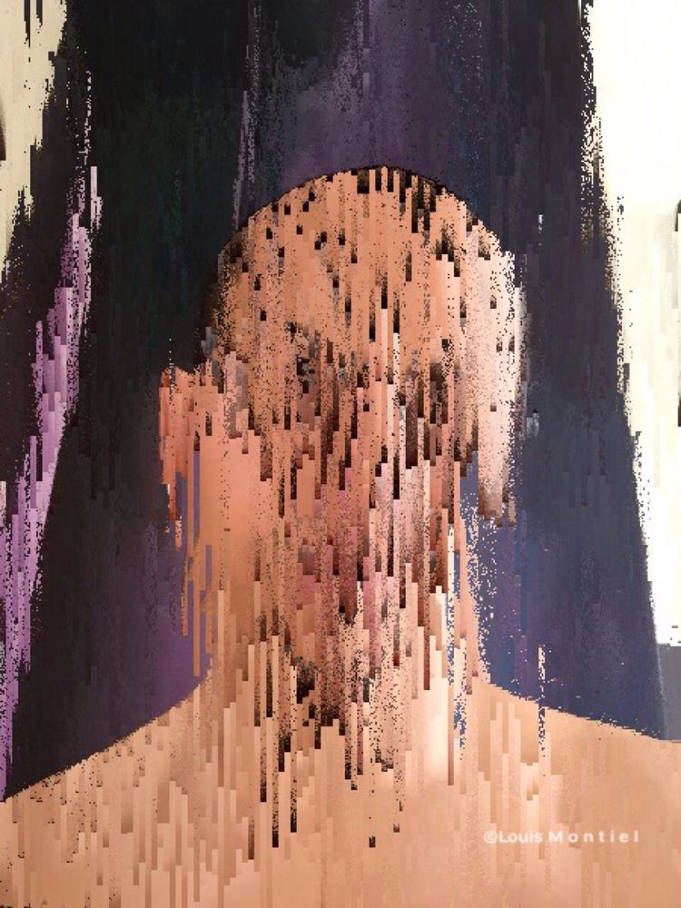 glitch Portrait art piece creat - louismontiel | ello