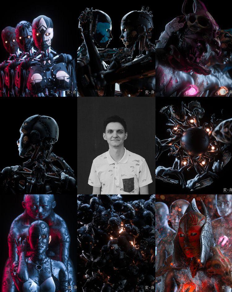 collage, based latest series. s - skeeva | ello