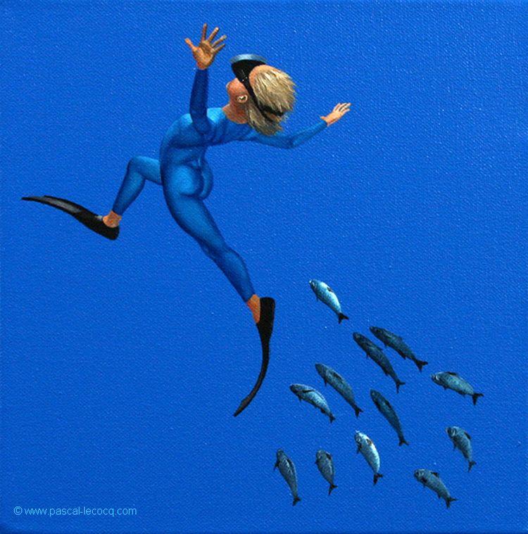CALLIGRAMME DE GRENOUILLE 37 -  - bluepainter | ello
