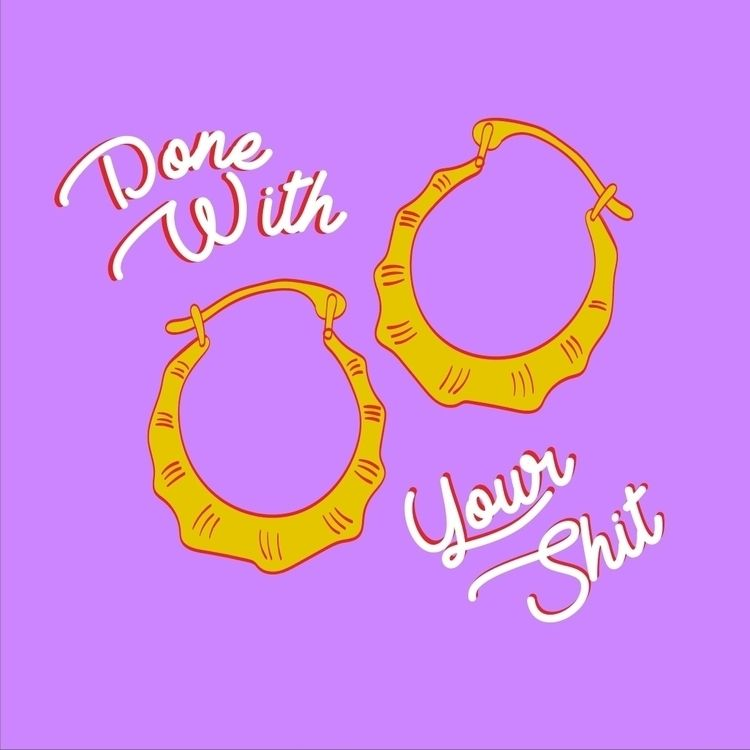 endless amount gold hoop earrin - robynjanine | ello
