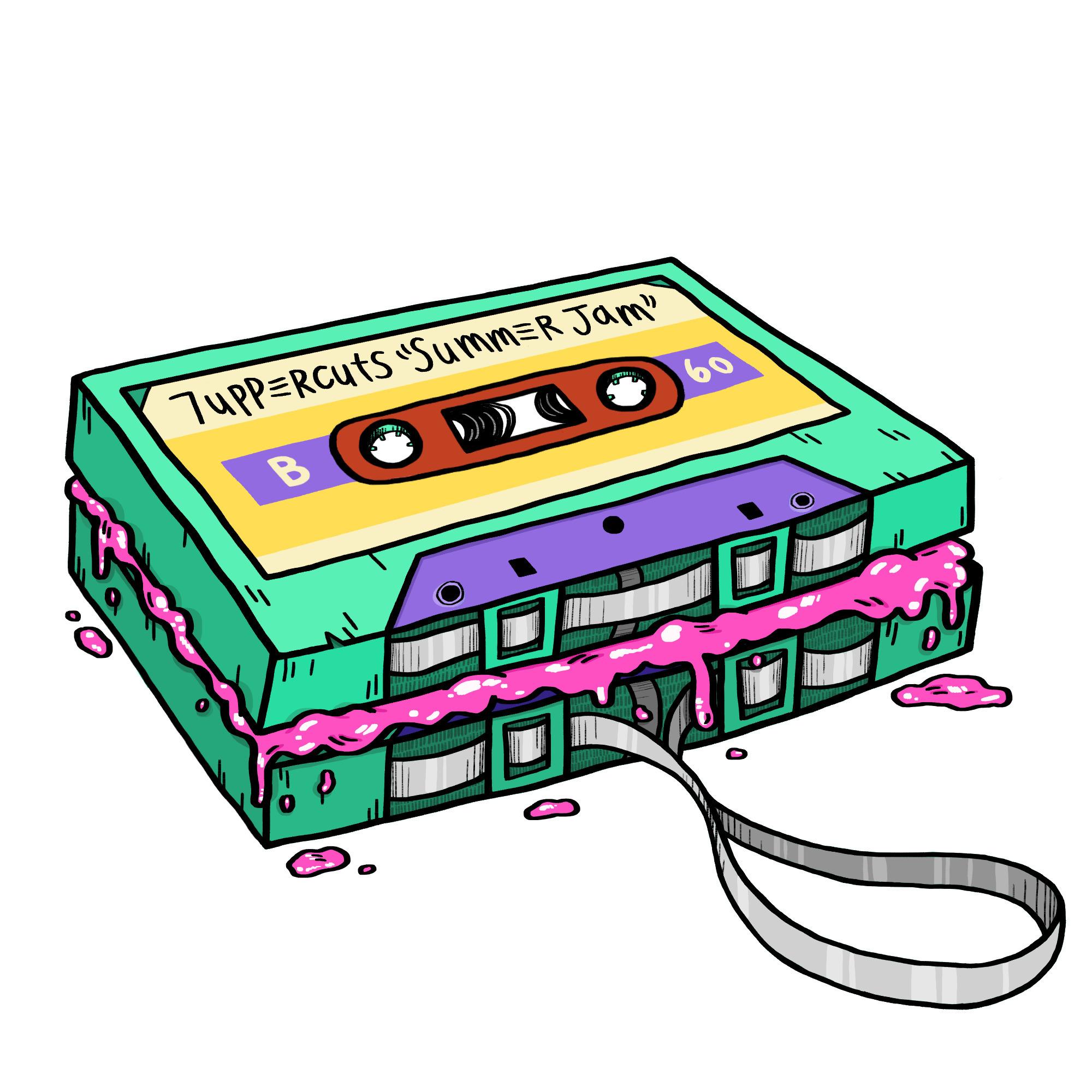 cassette sandwich - merch desig - hellbats | ello