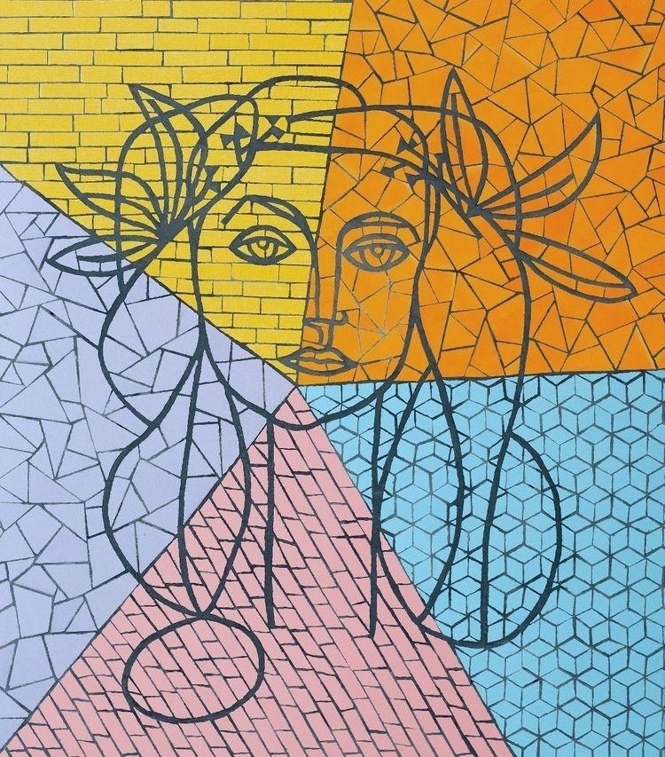Picasso mosaic - ceramic tiles  - petarpg | ello