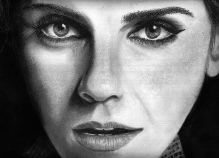 Drawing Emma Watson paper graph - jovanagreen | ello