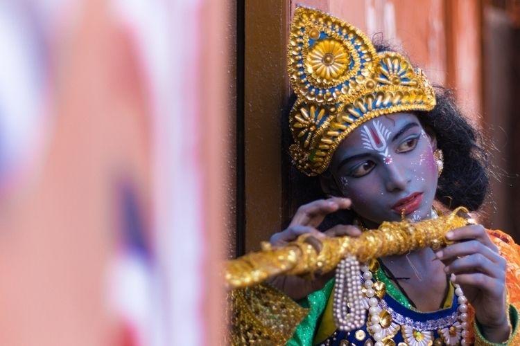 Krishna Face Painting (Shong) G - isukantapal | ello