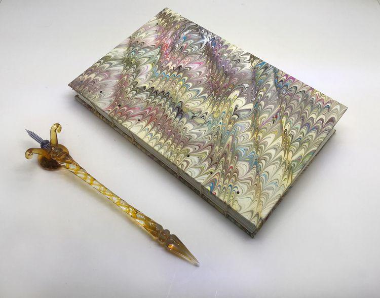 Large Marbled Sketchbooks. link - jcmarbling | ello