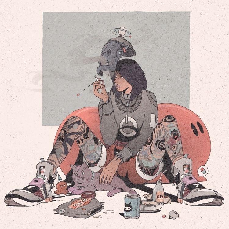 Cats Tako - illustration, drawing - 1sles | ello