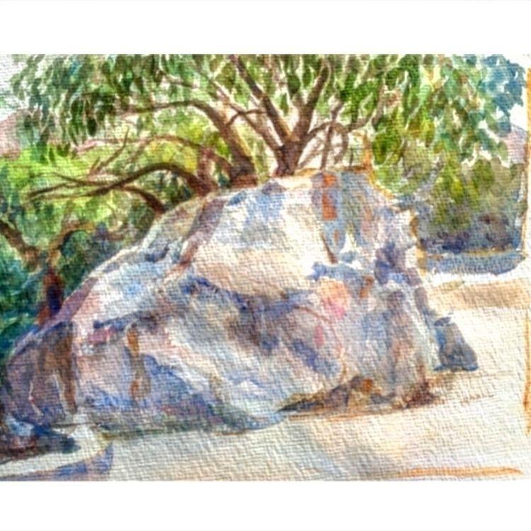 watercolour, landscape, india - yuliavirko | ello