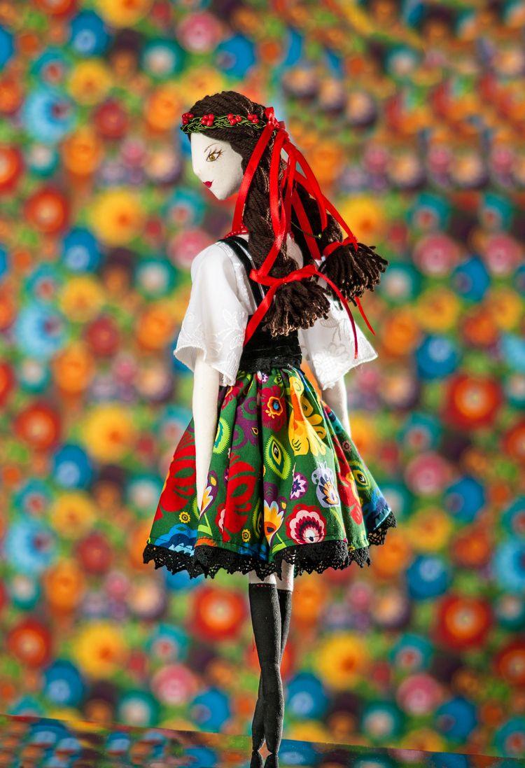 Polish Folklore Textile Doll - folklore - graziasz | ello