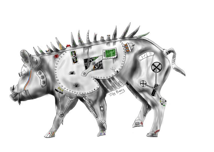 Borg Boar Jay Barry. Digital Me - mapperjay | ello