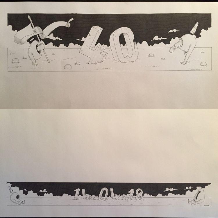birthday card - illustration, art - jimmy-draws | ello