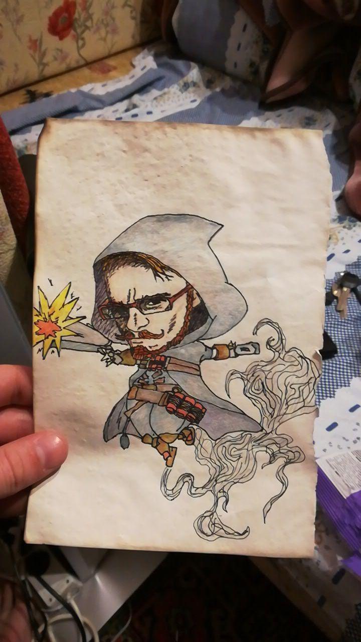 Portrait friend Reaper Overwatc - alakeys | ello