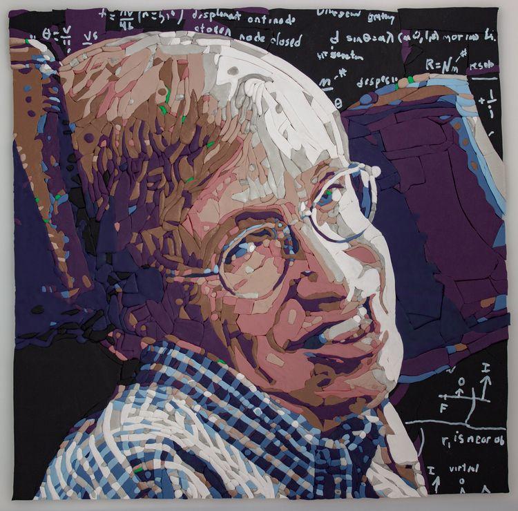 Portrait Steven Hawking created - josephbarbaccia | ello