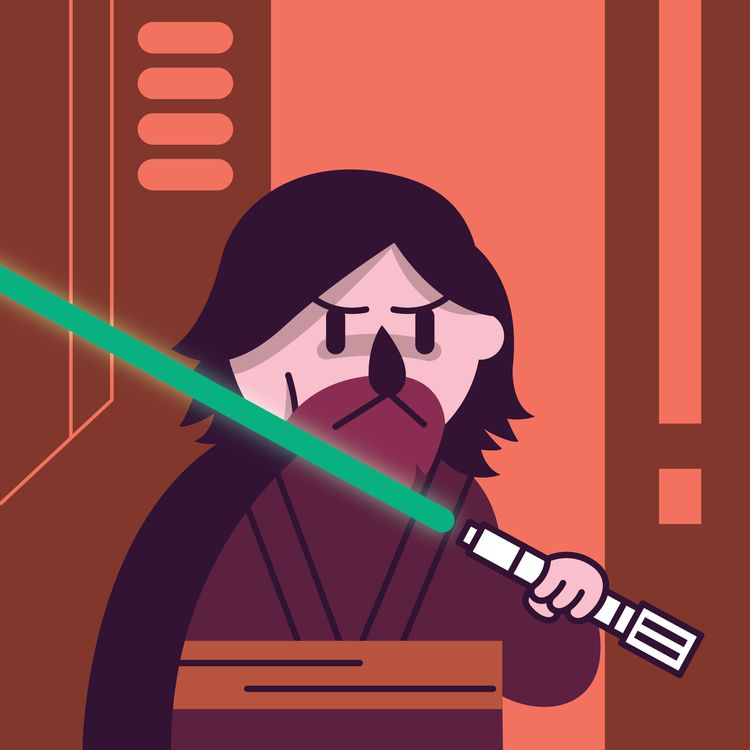 time Jedi - starwars, thelastjedi - cartoondumpling | ello
