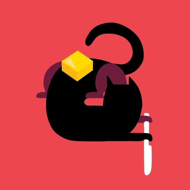 cat butter - illustration - ebencom | ello