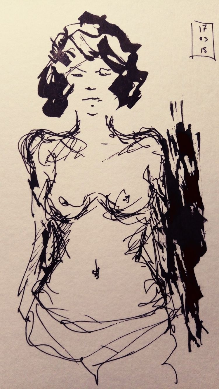 sketch, ink - orporick | ello