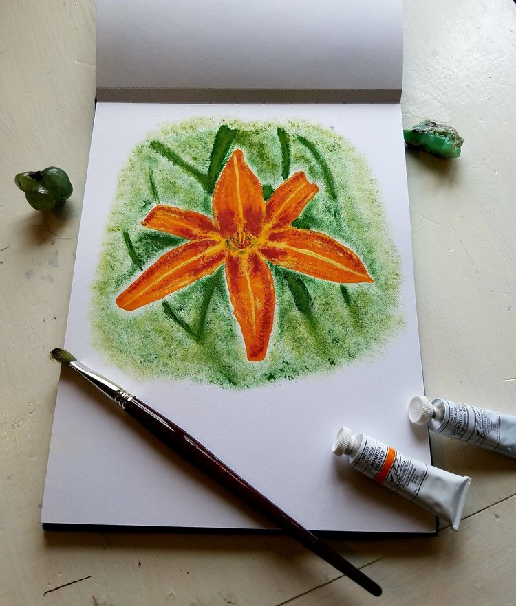 Tiger Lily - painting, tigerlily - natureisfree | ello