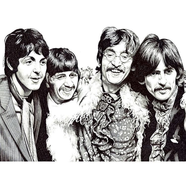 Beatles! pen ink illustration p - bobweaver | ello