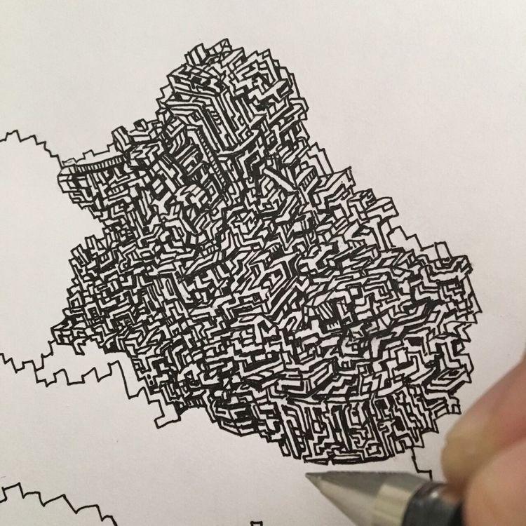 morning progress.  - Sunday, drawing - matthewjschultz   ello