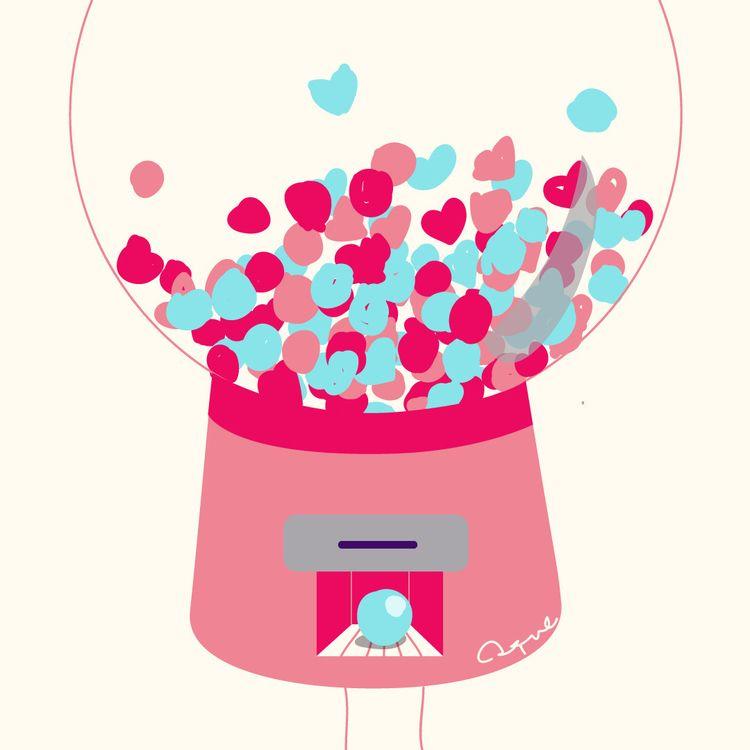 story chewing gum - Illustration - adrianaduque | ello