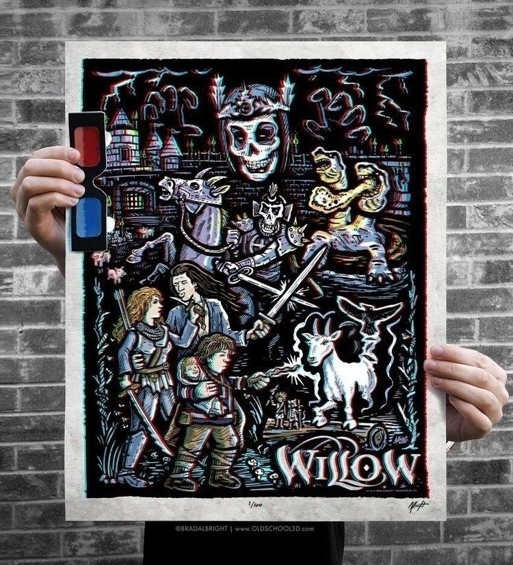 WILLOW... 3D! 30+ hours poster  - bradalbright | ello