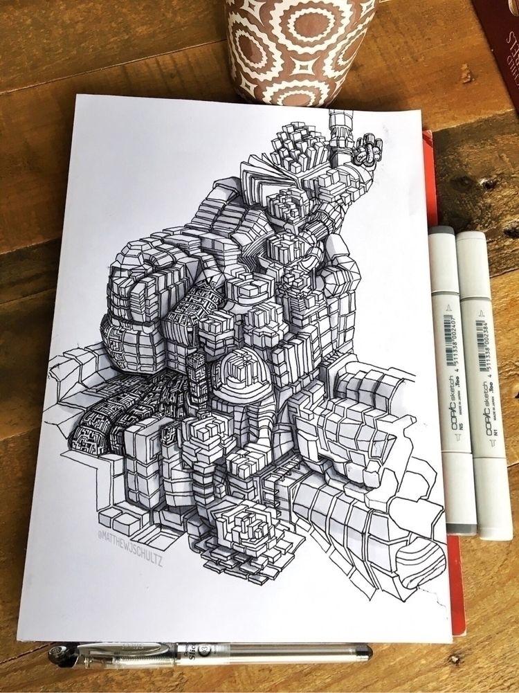Started fill detail piece, stop - matthewjschultz | ello