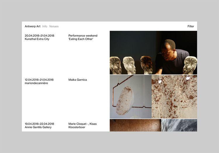 Website Antwerp Art designed ba - northeastco   ello