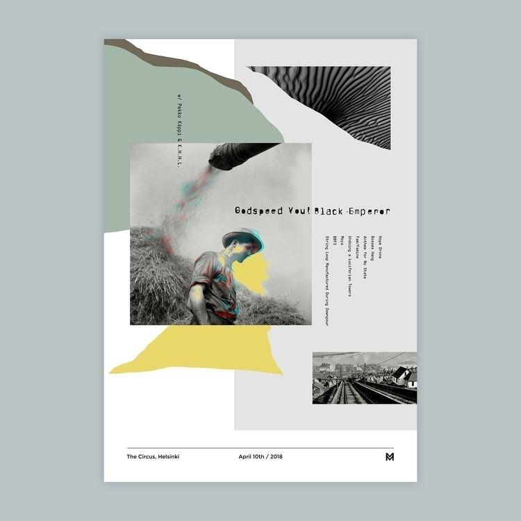 Gig poster project - Godspeed B - mcinen | ello