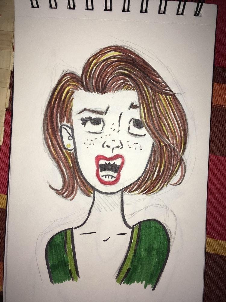 veces atrevo dar color - art, sketch - antoniofse | ello
