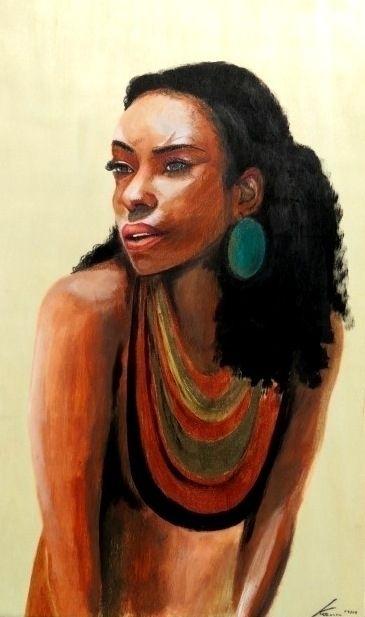 African American Beauty (acryli - katharinawozny | ello