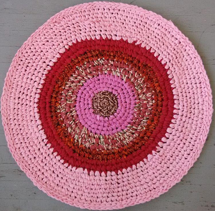 Handmade Crochet Rag Rug 42 Rec - maryherrigfiberarts | ello