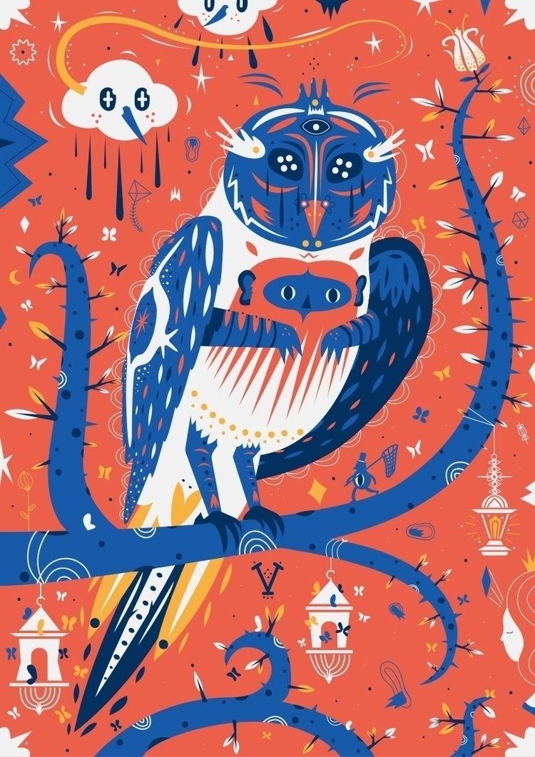 illustration, owl, digitalart - galekto | ello