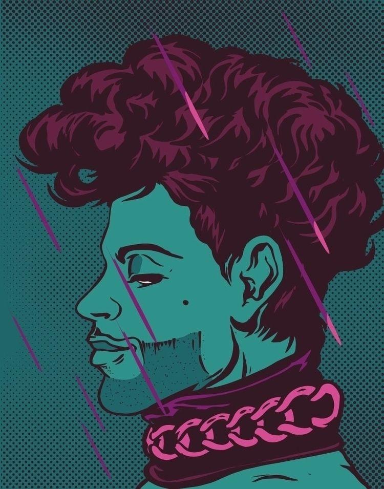 Prince - illustration, portrait - thomcat23   ello