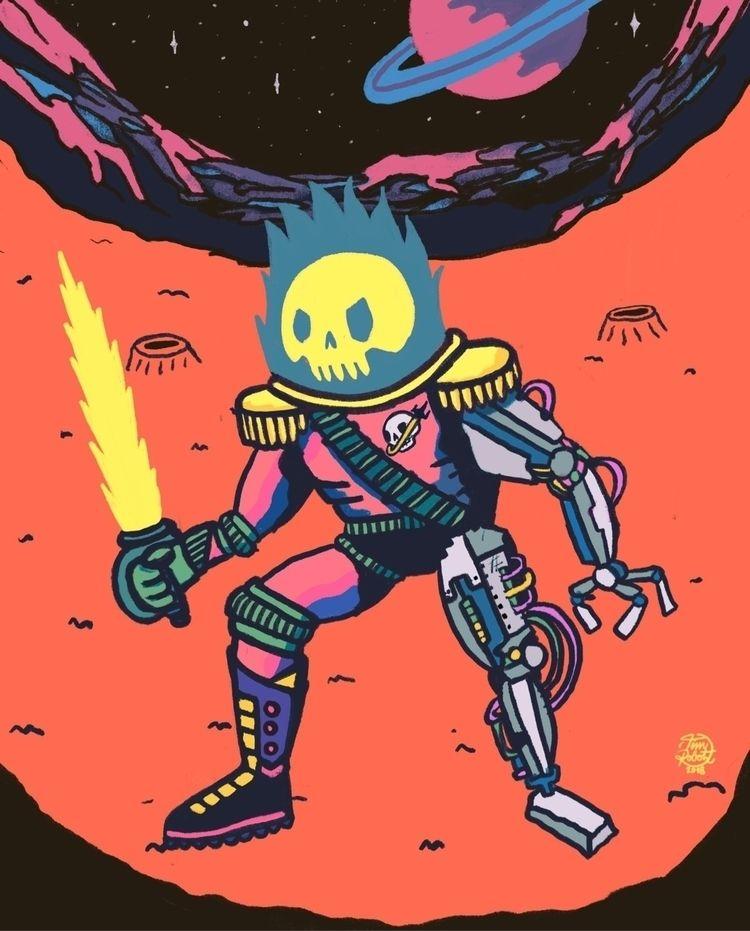 Space Pirate - illustration, CDChallenge - timrobot | ello