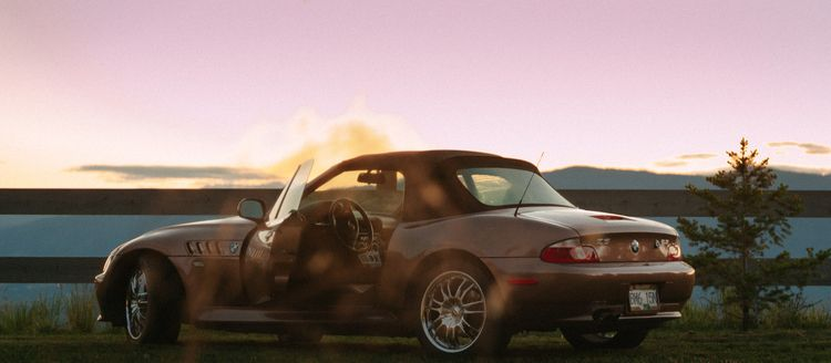 Carphotography, bmw, sunset, pinksky - samcondy | ello