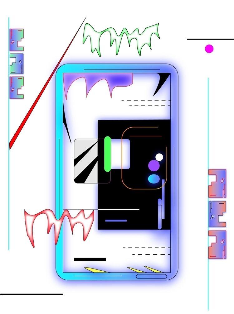enter/exit - illustrator, digital - escapescapes   ello