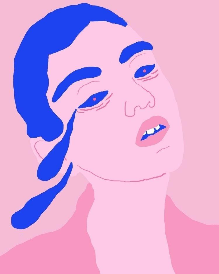 sad, sadness, art, color, woman - tchangtchang   ello